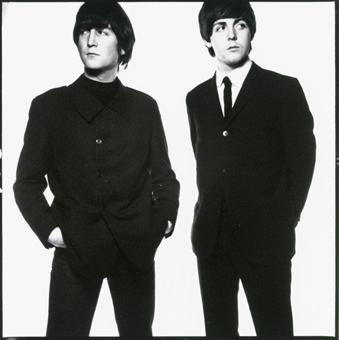 John Lennon and Paul McCartney  captured by David Bailey Young John Lennon And Paul Mccartney